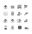 Real estate icons black vector image