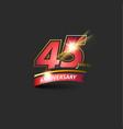 45 years red gold anniversary logo