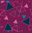 abstract geometric triangles repeat pattern vector image vector image