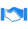 acquisition handshake icon grunge watermark vector image vector image
