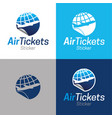air tickets sticker vector image vector image