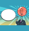 angry bloated red boss bubble vector image vector image