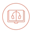 Audiobook line icon vector image vector image