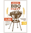 Barbecue Party Poster Hand Draw Sketch vector image vector image