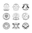 Baseball labels icons set vector image vector image