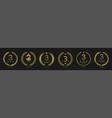 best three stars hotel wreath labels vector image