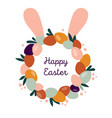 boho easter concept design wreath with bunny ears vector image vector image