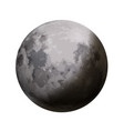 bright realistic moon with shadow on white vector image
