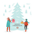 christmas card new year greeting card vector image vector image