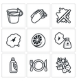 Cleaning service icons set vector image vector image