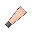 cosmetic tube foundation vector image vector image