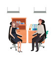 couple business in work office avatar vector image vector image