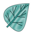 crayon silhouette of hand drawing green light of vector image vector image