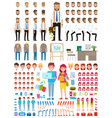 create character set different vector image vector image