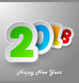 creative new year 2018 design card vector image