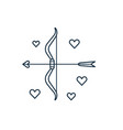 cupid bow and love arrows line icon vector image vector image