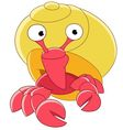 cute cartoon hermit crab vector image vector image