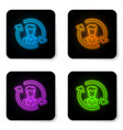 glowing neon human resources icon isolated on vector image vector image