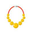 gold beads isolated golden necklace gorget on vector image vector image