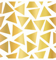 gold foil triangle seamless background vector image vector image