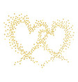 gold hearts vector image vector image