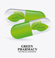 green pharmacy design vector image