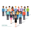 Group of people at work vector image vector image