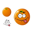 Happy smiling cartoon orange fruit vector image