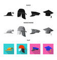 headwear and cap logo vector image vector image