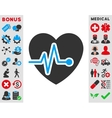 Heart Pulse Icon vector image vector image