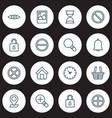 Icons set collection safeguard glance unlock
