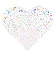 industrial robot fireworks heart vector image vector image