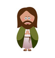 isolated joseph icon vector image vector image