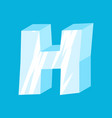 letter h ice font icicles alphabet freeze vector image vector image