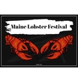 Lobster festival in America Colorful vector image vector image