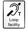 Loop Facility Information Sign vector image vector image