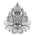 lotus eye sacred geometry ayurveda symbol of vector image