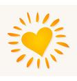 love sun logo vector image vector image