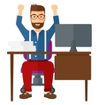 Man working at office vector image