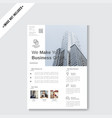 minimalist business flyer template vector image vector image