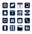 Mobile applications icons black vector image vector image