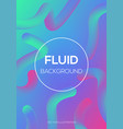 modern futuristic fluid neon light effect vector image