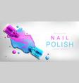 nail polish 3d bottles mock up banner advertising