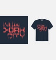 new york cty t-shirt and apparel design vector image vector image