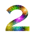Number of colorful firework two vector image vector image