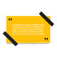 paper sheet with profound yellow paper quote vector image vector image