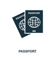 passport icon mobile app printing web site icon vector image
