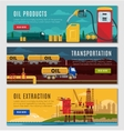 Petroleum Industry Horizontal Banners Set vector image vector image