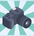 photo camera isometric reflection movie vector image vector image