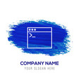 programming code icon - blue watercolor background vector image vector image